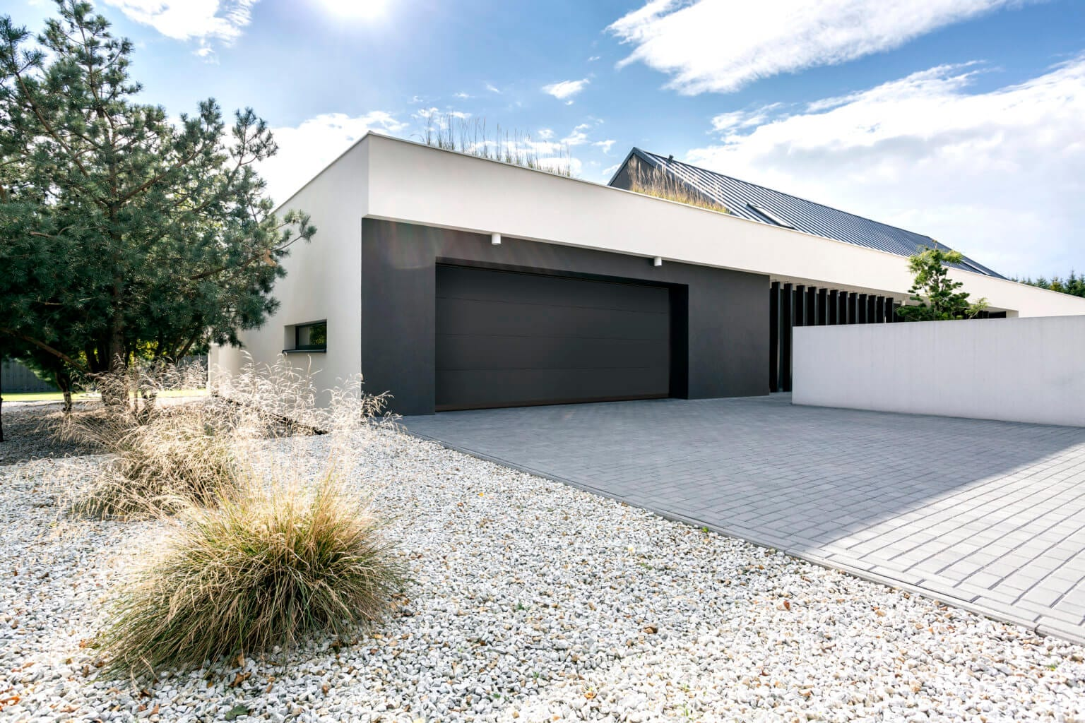 Modernly designed house with double garage
