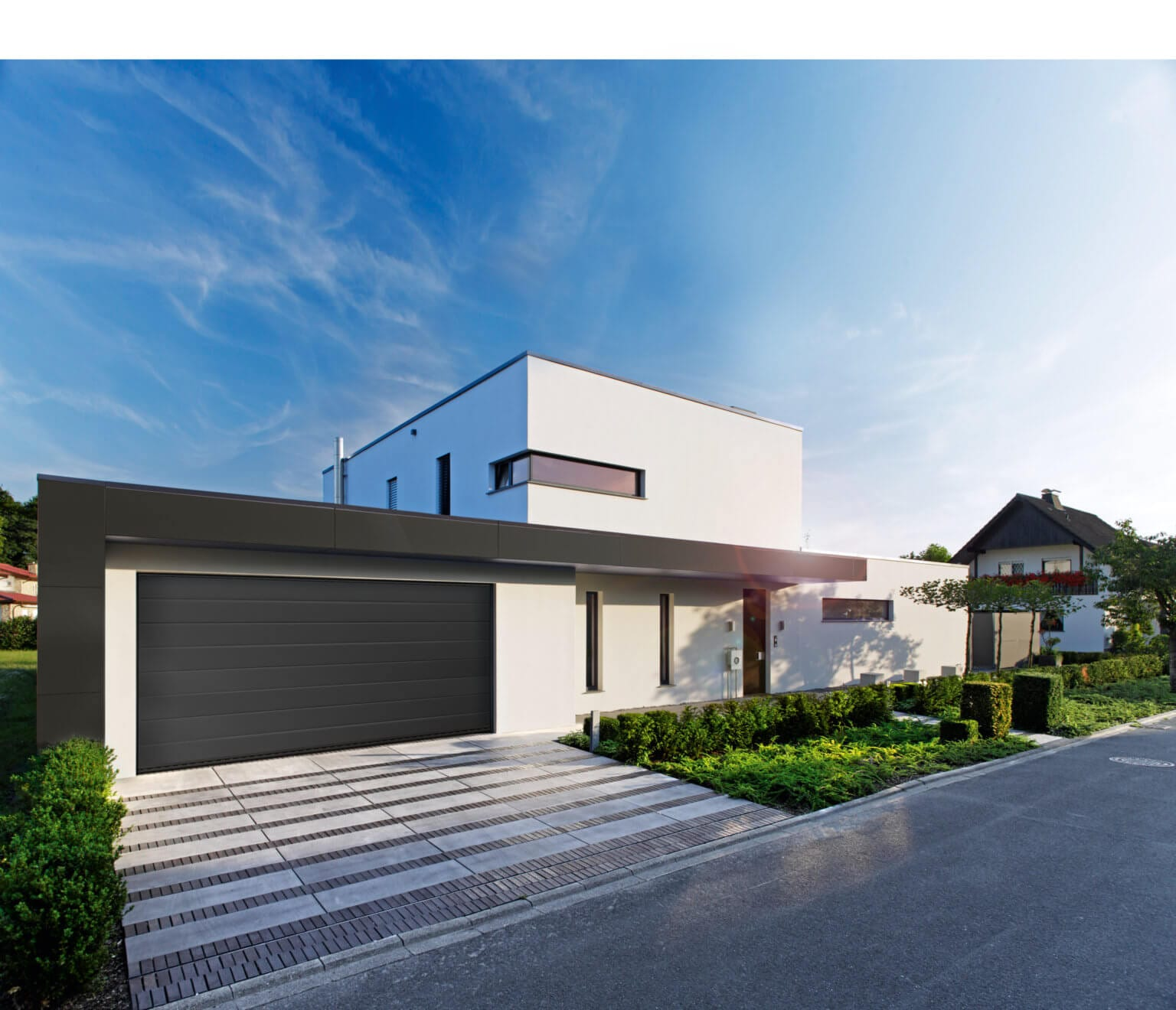 Garage, Haus, Wohnen, garage, house, living