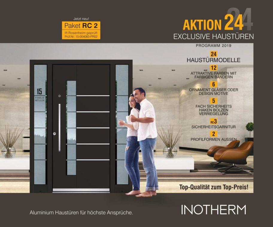 Aluminium-Haustüren Beidseitig Flügelüberdeckend ab 2150 €